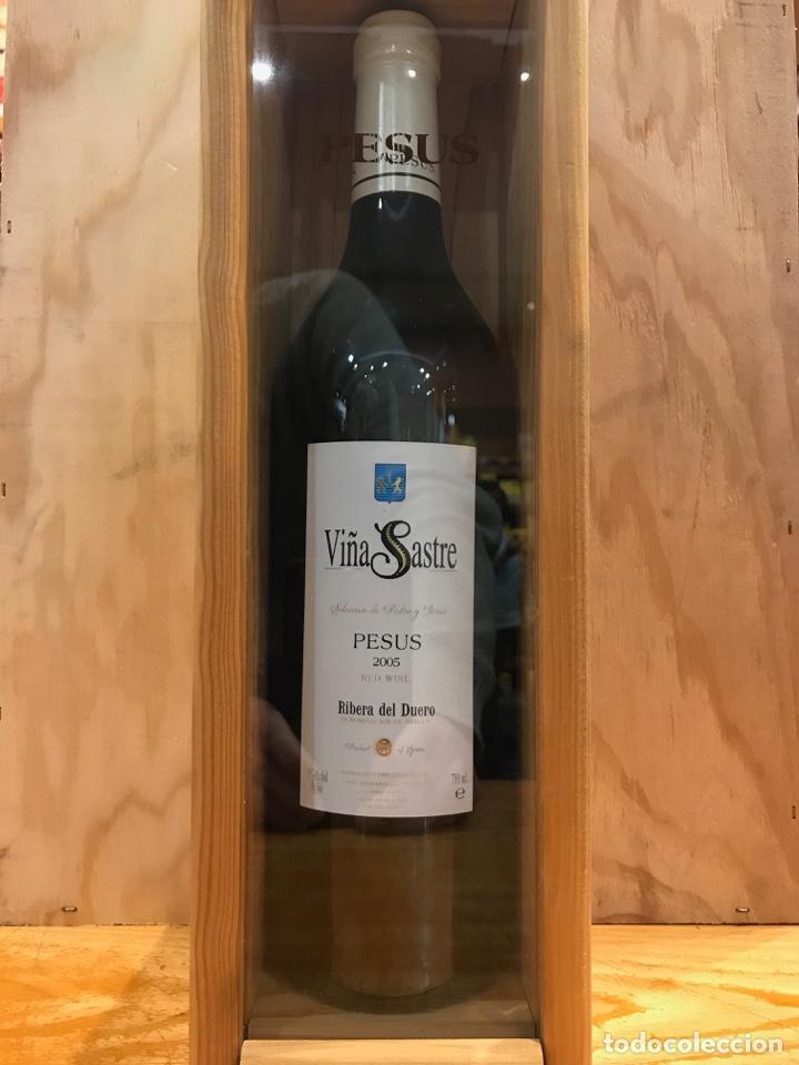 VINO - VIÑA SASTRE PESUS 2005 - RIBERA DEL DUERO - ESTUCHE MADERA (Coleccionismo - Botellas y Bebidas - Vinos, Licores y Aguardientes)