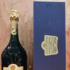 Collezionismo di vini e liquori: TAITTINGER COMTES DE CHAMPAGNE BRUT BLANC DE BLANCS - 1995 - ESTUCHE. Lote 147221994