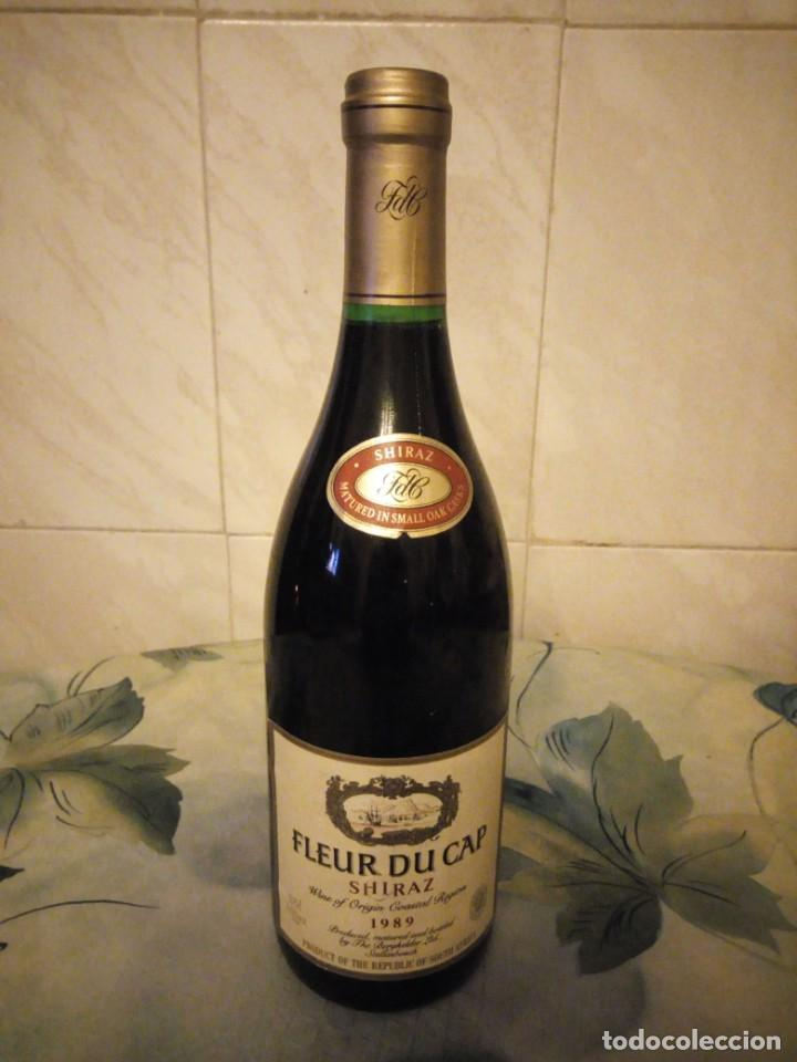 BOTELLA DE VINO TINTO FLEUR DU CAP SHIRAZ 1989. (Coleccionismo - Botellas y Bebidas - Vinos, Licores y Aguardientes)