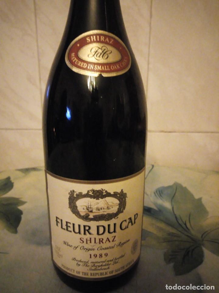 Coleccionismo de vinos y licores: Botella de vino tinto fleur du cap shiraz 1989. - Foto 2 - 147282562