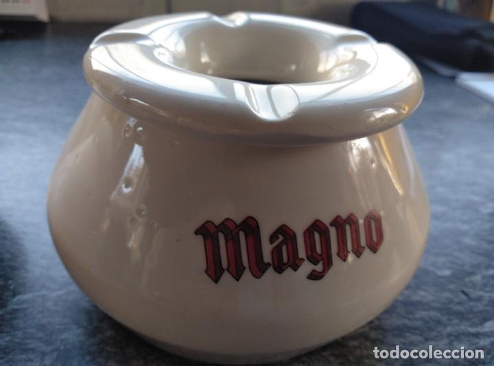 BRANDY MAGNO,CENICERO AGUA CERÁMICA (Coleccionismo - Botellas y Bebidas - Vinos, Licores y Aguardientes)