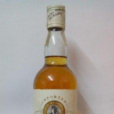 Coleccionismo de vinos y licores: JIM BARDETT - FINEST SCOTCH WHISKY - SIN ABRIR. ANTIGUA BOTELLA DE W. ESCOCÉS LLENA POSIBLE RECOGER. Lote 147708374