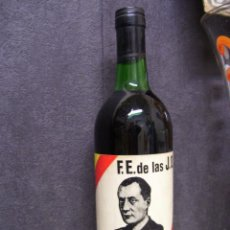 Coleccionismo de vinos y licores: BOTELLA DE VINO ENTERA - HOMENAJE A PRIMO DE RIVERA - F.E. DE LAS J.O.N.S. Lote 148152682