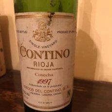 Coleccionismo de vinos y licores: BOTELLA VACÍA RIOJA CONTINO CRIANZA 1997. Lote 148230862