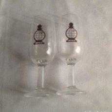 Coleccionismo de vinos y licores: LOTE DE 2 COPAS CATAVINOS ANTIGUOS DE LA CAJA DE AHORROS DE JEREZ. Lote 150743754