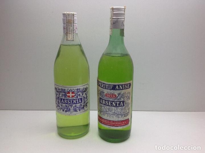 LOTE BOTELLAS DE ABSENTA - ABSINTHE - AGUSTI BOFILL S.A. BADALONA 68º - DEVA PALAU DE PLEGAMANS 50º (Coleccionismo - Botellas y Bebidas - Vinos, Licores y Aguardientes)