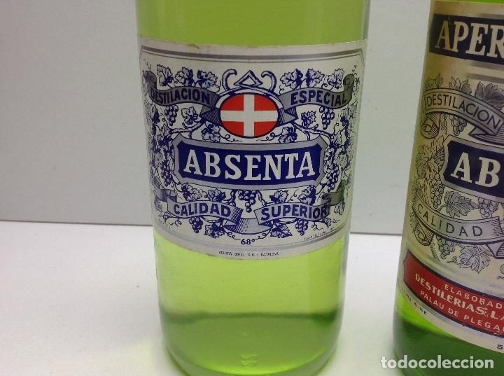 Coleccionismo de vinos y licores: LOTE BOTELLAS DE ABSENTA - ABSINTHE - AGUSTI BOFILL S.A. BADALONA 68º - DEVA PALAU DE PLEGAMANS 50º - Foto 2 - 153066572