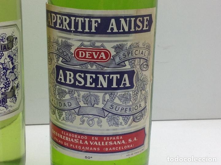 Coleccionismo de vinos y licores: LOTE BOTELLAS DE ABSENTA - ABSINTHE - AGUSTI BOFILL S.A. BADALONA 68º - DEVA PALAU DE PLEGAMANS 50º - Foto 5 - 153066572
