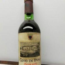 Coleccionismo de vinos y licores: BOTELLA RIOJA COTO DE IMAZ 1970 (BOTELLA LLENA, NO SE OBSERVAN MERMAS). Lote 153120846