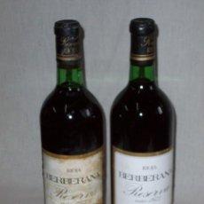 Coleccionismo de vinos y licores: VINO TINTO RIOJA BERBERANA . RESERVA 1973 - 2 UNIDADES. Lote 153538782