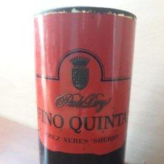 Coleccionismo de vinos y licores: ANTIGUA LATA BOTE OSBORNE FINO QUINTA PALE DRY JEREZ- LETRAS EN RELIEVE. Lote 154286802