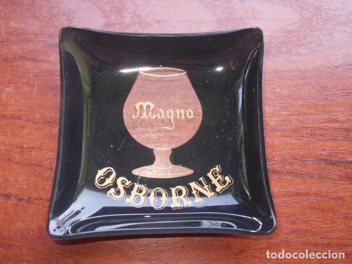 CENICERO CRISTAL OSBORNE MAGNO, MIDE 9X9 CM. (Coleccionismo - Botellas y Bebidas - Vinos, Licores y Aguardientes)