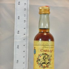 Coleccionismo de vinos y licores: BOTELLITA BOTELLIN BRANDY CARLOS I SOLERA ESPECIAL PEDRO DOMECQ JEREZ DE LA FRONTERA. Lote 155755994