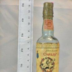Coleccionismo de vinos y licores: BOTELLITA BOTELLIN BRANDY CARLOS I SOLERA ESPECIAL PEDRO DOMECQ JEREZ DE LA FRONTERA. Lote 155756246