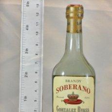 Coleccionismo de vinos y licores: BOTELLITA BOTELLIN BRANDY SOBERANO RESERVADO EXTRA GONZALEZ BYASS JEREZ. Lote 155756642