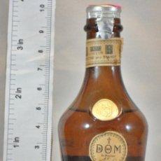 Coleccionismo de vinos y licores: BOTELLITA BOTELLIN DOM LIQUEUR BRANDY BENEDICTINE S.A. FECAMP FRANCE. Lote 155865498