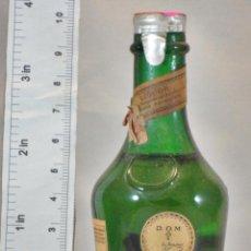 Coleccionismo de vinos y licores: BOTELLITA BOTELLIN DOM LIQUEUR BRANDY BENEDICTINE S.A. FECAMP FRANCE. Lote 155865754