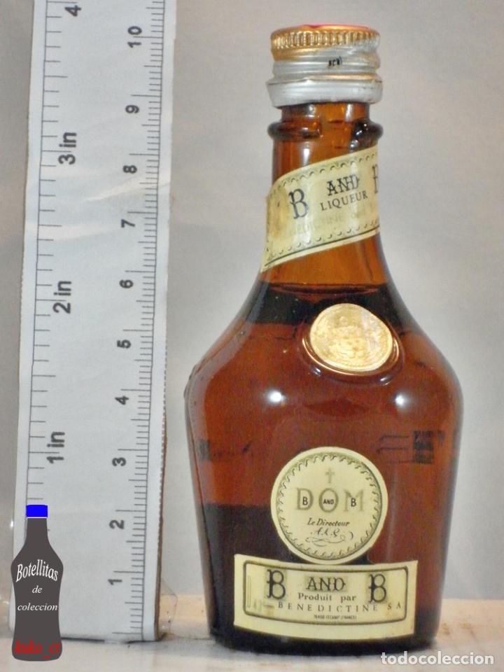 BOTELLITA BOTELLIN DOM LIQUEUR BRANDY BENEDICTINE S.A. FECAMP FRANCE (Coleccionismo - Botellas y Bebidas - Vinos, Licores y Aguardientes)