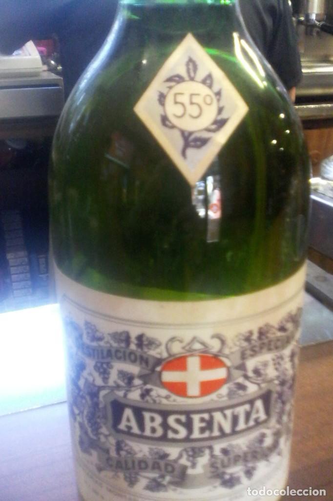 ABSENTA - MONTAÑA - GRANOLLERS . (Coleccionismo - Botellas y Bebidas - Vinos, Licores y Aguardientes)