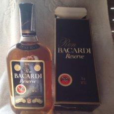 Coleccionismo de vinos y licores: RON BACARDI RESERVE (PUERTO RICO). 75 CL. BOTELLA SIN ABRIR Y CON CAJA. AÑOS 80. PRECINTO HACIENDA.. Lote 160488822