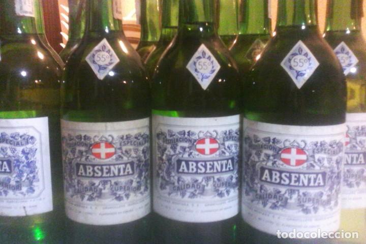ABSENTA 55º - MONTAÑA - GRANOLLERS - 10 BOTELLAS . (Coleccionismo - Botellas y Bebidas - Vinos, Licores y Aguardientes)