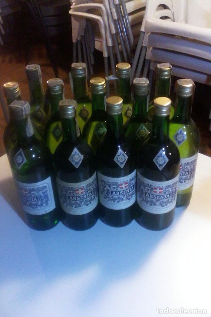 Coleccionismo de vinos y licores: ABSENTA 55º - MONTAÑA - GRANOLLERS - 10 BOTELLAS . - Foto 2 - 161234106