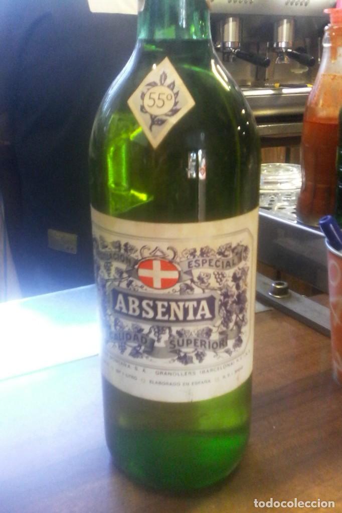Coleccionismo de vinos y licores: ABSENTA 55º - MONTAÑA - GRANOLLERS - 10 BOTELLAS . - Foto 3 - 161234106