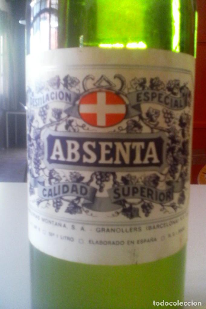 Coleccionismo de vinos y licores: ABSENTA 55º - MONTAÑA - GRANOLLERS - 10 BOTELLAS . - Foto 8 - 161234106