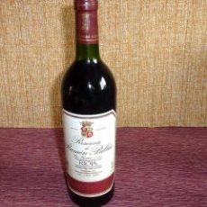 Coleccionismo de vinos y licores: BOTELLA DE VINO.RESERVA DE RAMON DE BILBAO.COSECHA DE 1995.. Lote 162319166