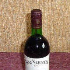 Coleccionismo de vinos y licores: BOTELLA DE VINO TINTO.VIÑA VERMETA.1990. Lote 162319390