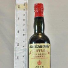 Coleccionismo de vinos y licores: BOTELLITA BOTELLIN OLD BROWN SHERRY AÑEJO CARTAGO JOSE BUSTAMANTE S.L. JEREZ. Lote 163257606