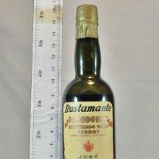 Coleccionismo de vinos y licores: BOTELLITA BOTELLIN AMONTILLADO PASTO SHERRY PASODOBLE JOSE BUSTAMANTE S.L. JEREZ. Lote 163257970