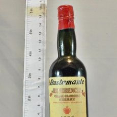 Coleccionismo de vinos y licores: BOTELLITA BOTELLIN GRAN OLOROSO SHERRY REVERENCIA JOSE BUSTAMANTE S.L. JEREZ. Lote 163266190