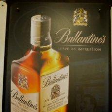 Coleccionismo de vinos y licores: BALLANTINES ***WHISKEY*** (CARTEL METALICO) . Lote 163334678
