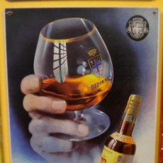 Coleccionismo de vinos y licores: MAGNO ***BRANDY OSBORNE*** (CARTEL METALICO) . Lote 163335770