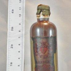 Coleccionismo de vinos y licores: BOTELLITA BOTELLIN CURACAO ROUGE BARDINET BORDEAUX. Lote 163527530