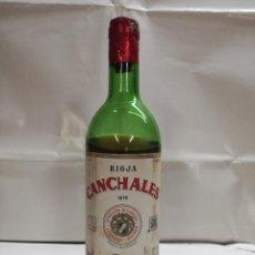 Coleccionismo de vinos y licores: BOTELLA DE VINO CANCHALES . 1976. BODEGAS RIOJANAS. CENICERO. LOGROÑO.. Lote 164087126
