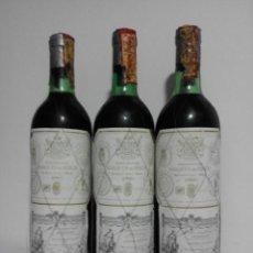Coleccionismo de vinos y licores: LOTE 3 BOTELLAS MARQUES DE RISCAL CRIANZA 1980. Lote 164102722