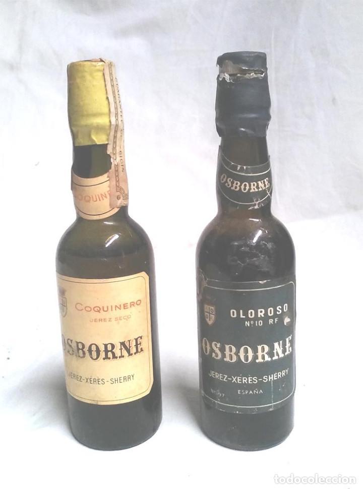 LOTE BOTELLINES OSBORNE COQUINERO Y OLOROSO (Coleccionismo - Botellas y Bebidas - Vinos, Licores y Aguardientes)