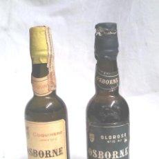 Coleccionismo de vinos y licores: LOTE BOTELLINES OSBORNE COQUINERO Y OLOROSO. Lote 165145458