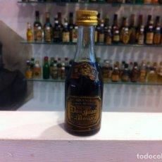 Coleccionismo de vinos y licores: BOTELLÍN (BRANDY GRAN RESERVA DON JUAN DE MONTARA) DESTILERÍAS MONTARA, PINEDA DE MAR. ALTURA: 11CM. Lote 166172574