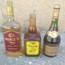 Coleccionismo de vinos y licores: LOTE DE LICORES. Lote 166538722