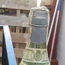 Coleccionismo de vinos y licores: BOTELLA DE BRANDY JEREZANO. 3 ESCUDOS. FLORIDO HERMANOS. SANLUCAR DE BARRAMEDA. 29,5 CM.. Lote 167493512