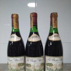 Coleccionismo de vinos y licores: 3 BOTELLAS VINO RIOJA. VIÑA ARDANZA RESERVA 1976. BODEGAS LA RIOJA ALTA. HARO.. Lote 167633212