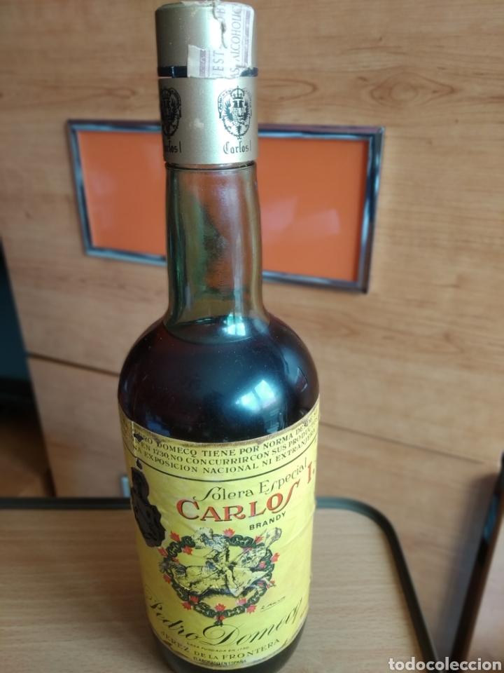 CARLOS I BRANDY SOLERA ESPECIAL (Coleccionismo - Botellas y Bebidas - Vinos, Licores y Aguardientes)