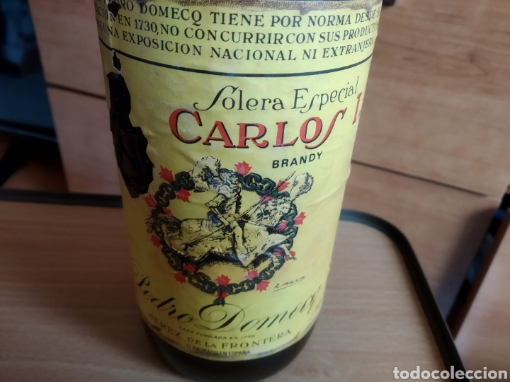 Coleccionismo de vinos y licores: Carlos I Brandy Solera Especial - Foto 3 - 167847778