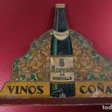 Coleccionismo de vinos y licores: ANTIGUO SERVILLETERO DE BRANDY SECULAR VINOS ALVEAR MONTILLA COÑAC. Lote 167924708