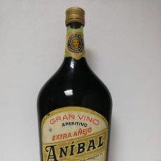 Coleccionismo de vinos y licores: GRAN VINO APERITIVO ANIBAL, COMPAÑÍA MATA AÑOS 70-80. Lote 167982956