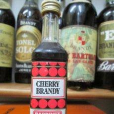 Coleccionismo de vinos y licores: ANTIGUO BOTELLIN BRANDY COÑAC, CHERRY BRANDY BARDINET 12 CM ALTURA. Lote 168290824
