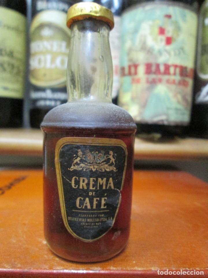 ANTIGUO BOTELLIN BRANDY COÑAC, CREMADE CAFE 10 CM (Coleccionismo - Botellas y Bebidas - Vinos, Licores y Aguardientes)